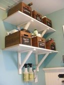 I love the idea of using crates as storage.