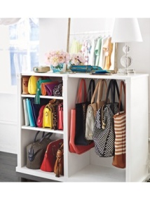 What girl wouldn't love having her very own handbag cabinet??