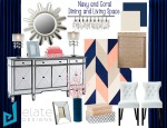 Navy and Coral Dining and Living Space_Revision