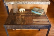 I love when things are recycled just like the wood on this table.