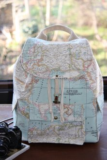 I thought this was cool because it's a world map as a back pack.