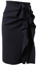 not your typical black skirt, love the girly detail