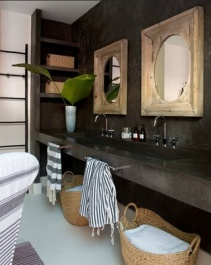 Double sinks, lots of counter space, and storage...yes!