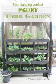 free-standing-vertical-pallet-herb-garden