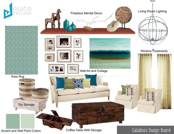 Catalina's Living Room Design Board