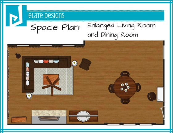 Ashley Hutchinson enlarged space plan living room and dining room
