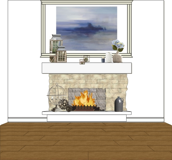 Ashley Hutchinson Living Room Rendering