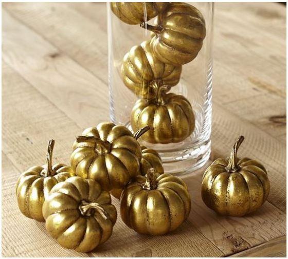 PB Gold Pumpkin Vase Filler