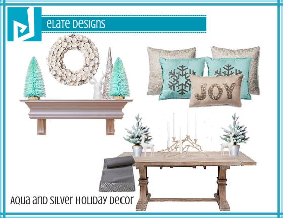 Aqua and Silver Holiday Decor