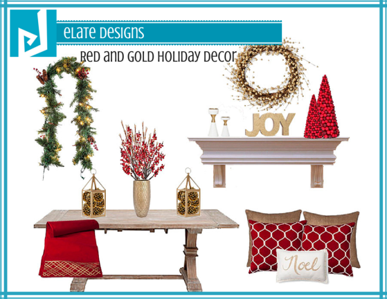Red and Gold Holiday Decor