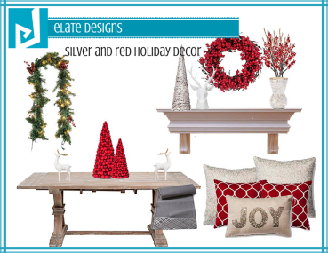 Silver and Red Holiday Decor
