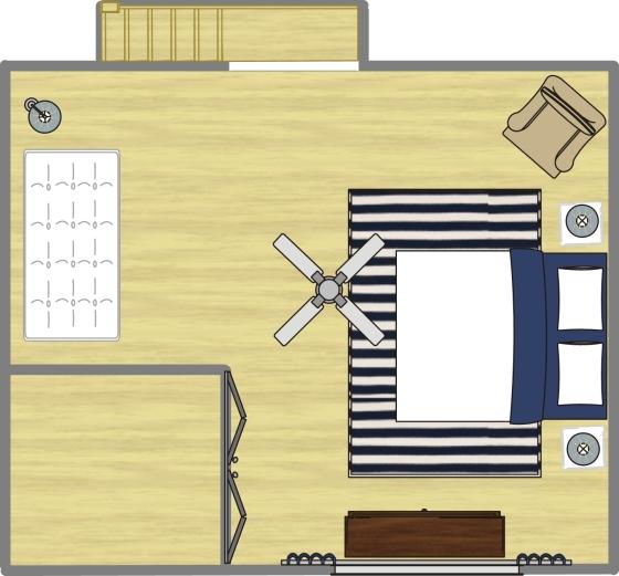 Ariel Kaye Master Bedroom Space Plan